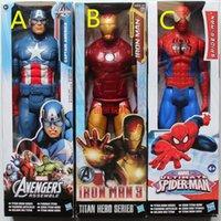 "Wholesale Avenger Toys - Super Heroes Spider-man Iron Patriot Marvel Captain America Avenger Superhero PVC Action Figure Toy 12""30CMZZJ1154"
