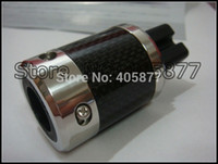 Wholesale Power Plugs Rhodium - one pair FURUTECH Rhodium Plated Carbon fiber US Power plug FI-50M(R) +IEC
