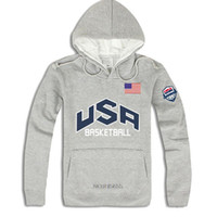 Wholesale Usa Basketball Sweatshirt - Wholesale-New 2016 Men's Sport Hoodies Casual Pullover America Basketball Hoodie 4 Colors Thick Hooded USA hip hop sweatshirts Men ding