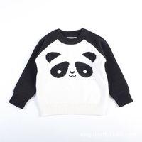 Wholesale Kids Panda Sweater - New Kids Panda Sweaters Pullover Knitted Spring Autumn Long Sleeved Girls Boys Children Casual Panda Design Kids Clothing 1-5T