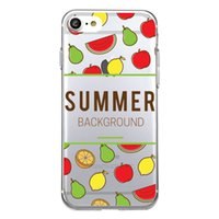 Wholesale Pear Phones - Shaka Laka Cute pear Pattern Phone Shell Clear Soft TPU Silicon Summer Fruit Case For iPhone 6 6S 5.0in 6Plus 7 7plus 8 8s plus Back Cover
