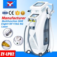 Wholesale Elight Ipl Machine - 5 in 1 Multifunction Strong Energy OPT SHR IPL Laser Hair Removal ND YAG Laser Tattoo Removal Beauty Machine IPL&RF & ND YAG&Elight