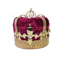 Wholesale imperial crown tiara for sale - Group buy Man s Crown Tiara Hat Cap King Queen Cosplay Hairwear Unisex Prince Princess Fashion Jewel Men s Crown Imperial State Colour