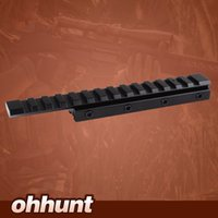 Wholesale Dovetail Rail Extension - Hunting Extension Low Profile Airgun .22 Dovetail Rail 11mm to 20mm Weaver Picatinny Rail Adapter Scope Mount Converter