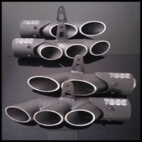 Wholesale tail pipes - TOCE 38-51mm Universal Exhaust Pipe Dual Tail Pipe Slip On Dirt Street Bike Motorcycle