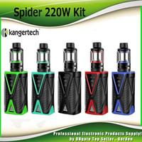 Wholesale Mini Top Box - Original Kanger Spider 220W Starter Kits 4200mAh Battery Box Mod AKD Five 6 Mini Tank 4ml Top Refilling Kit 100% Authentic KangerTech