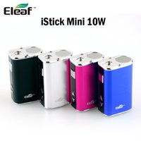 Eleaf originale Mini 10W Box Mod 1050mAh VV VW Vape Mods Batterie OLED Dispaly Fit 510 eGo Enfilez atomiseurs Vaporisateur Sous ohm Réservoir