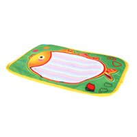 Kids Drawing Water Mat Tablet Aqua Doodle 29 * 19cm Multicolor Fish Pattern Tavolo da disegno + Penna Morbido liscio per dipingere