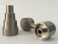 seramik erkek çivi 18.8mm toptan satış-Kol Kubbesiz Titanyum Tırnak 6in 1 10mm 14mm 18.8mm ile erkek ve kadın için ortak va seramik çivi carb caps cam su