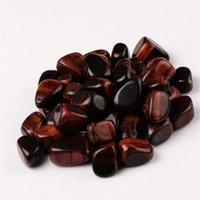 Wholesale Tigers Eye Oval Stones - Red tiger eye Tumbled Stones Beads Points Healing Reiki Chakra Polished Free pouch Sold by 200g lot
