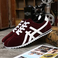 Wholesale Shoes Laces Sneakers - Loafers men shoes suede leather lace sneakers designer mens casual canvas running free shipping new style spring Forrest Gump shoes