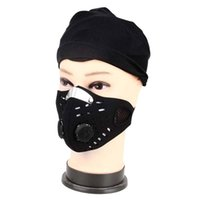 Wholesale Bicycle Dust Caps - Wholesale- Outdoor Anti-dust Cycling Face Mask Comfortable Anti-pollution Air Filter Breathable Bike Bicycle Riding Hiking Face Masks New