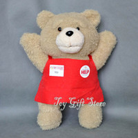 """Wholesale Ted Free Shipping - Free Shipping Cute Teddy Ted Bear Plush Doll Stuffed Soft Fashion Toy 9.5"""" Good For Gift"""
