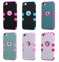 Starry Bling Diamond Hybrid Layer Housse en plastique dur pour iPod Touch 6 6G 6th 5 5G 5ème + Soft Silicone Shockproof Defender Dual Heavy Duty Skin