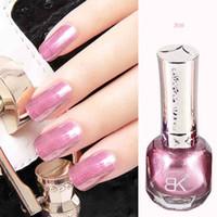 Wholesale Nail Crystal Sand - Wholesale- 1 pcs metallic nail polish free shipping 3colors 10ml crystal sand non toxic mirror nail lacquer nail varnish