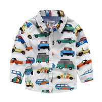 Wholesale Cool Clothing For Kids - Cool! 2016 Children clothing Colorful car print middle boy shirts for boy kids clothing boys clothes wholesale distribute