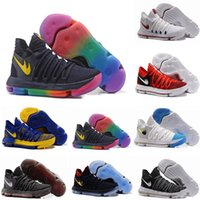 2017 FMVP versione corretta Kevin KD X 10 Mens Scarpe da basket Warriors Home Wolf Durant 10s Training Sport Sneakers US 7-12