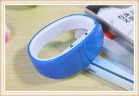 Wholesale Green Bracelet Watch Cheap - Unisex sport bracelets wrist watch jelly candy color LED digital watch plastic bangle wristwatches with cheap price