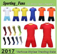 Wholesale Diy Train Set - B807 1609 soccer training jerseys,football sets,soccer uniforms! DIY your team mark,soccer wear, cuztomzied any team design