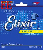 Wholesale Electric Guitars Strings - Elixir 12050 Electric Guitar Strings with POLYWEB Coating Light .010-.046