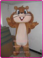 ingrosso costume da abito scoiattolo-Promozione Mascotte Big Tail Squirrel Mascot Costume Formato adulto Personaggio dei cartoni animati Scoiattolo Mascotte Fancy Dress per il Carnevale Party