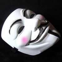 Wholesale 2000pcs V Mask Masquerade Masks For Vendetta Anonymous Valentine Ball Party Decoration Full Face Halloween Super Scary Party Mask