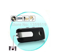 Compra Videocamere Flash-Disco USB Mini videocamera nascosta Mini DVR U8 Unità flash USB HD Mini videocamera rilevazione U disco Digital Video Recorder 50pcs