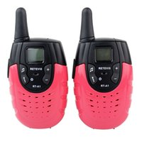 Wholesale Two Way Radios For Kids - 2pcs Mini Retevis RT-A1 UHF VOX 22 Channel 0.5W Channel Scan VOX Monitor CTCSS For Kid Two Way Radio A9102C