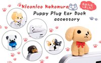 Wholesale Anti Dust Earphone Dog - Wholesale-Wholesale 12 pcs   lot Dog 3.5mm universal dust Plug dog Anti Dust Earphone Jack Plug Headset Stopper Cap Free shipping