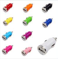 douille double usb universelle achat en gros de-Micro Auto Universal Dual USB Chargeur de voiture pour iPhone iPad iPod 3.1A Mini Chargeur de voiture Adaptateur / Cigar Socket Black FMHM109