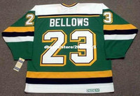ingrosso personalizzato Throwback Mens BRIAN BELLOWS Minnesota North Stars 1991 CCM Vintage Away Cheap Retro Hockey Jersey