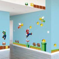 Wholesale mario room - Super Mario Bros Kids Removable Wall Sticker Decals Nursery Home Decor