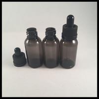 elastische glas-tropfflaschen großhandel-Schwarze 30ml HAUSTIER Eliquid Flasche mit Glastropfflasche und kindersicherem Kappe Ecigarette leeren Plastik E flüssige Flasche