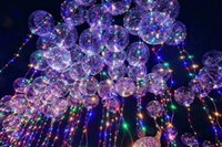 Wholesale Latex Balloon 18 - Hot Sale LED Bobo Balloon Transparent 3meter 4colors LED Strip 18 inch Luminous Balloons For Wedding Party Christmas Decorations