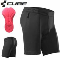 almohadillas de gel para bicicleta al por mayor-Envío gratis gel acolchado 3D Cube Bike Shorts CMPT en ropa interior Color negro 93% poliéster 7% Elastane Ciclismo ropa interior tamaño S-XXL