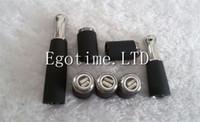 Wholesale Best Ego Atomizer - BEST Skillet Atomier Ego D with Dual Ceramic Core Coils Vaporizer Herbal Wax Tank Metal Drip Tip for Ego MOD E Cigarette Vapor Atomizer