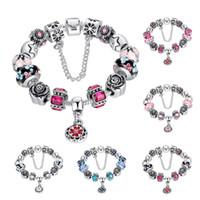 heiße verkauf pandora-stil großhandel-Großhandel Luxus Stil Charme Armband Bunte Charming Chamilia Perlen Armbänder mit Pandora für Frauen und Männer Modeschmuck Heißer Verkauf