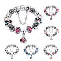 Wholesale Men Pandora Bracelet - Wholesale Luxury Style Charm Bracelet Colorful Charming Chamilia Beads Bracelets with Pandora for Women and Men Fashion Jewelry Hot Sale