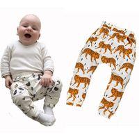 kids tiger clothing NZ - 4pcs Baby Boy Harem Pants Cartoon Tiger Panda Fox Printed Kids Trousers Children Clothing 2016 New Brand INS High Quality Baby Girl Clothes