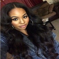 Wholesale Glueless Human Hair - Unprocessed virgin brazilian lace front wigs glueless full lace human hair wigs top quality Medium density body wave lace wigs