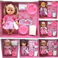 Wholesale Fashion Design Toys For Girls - Wholesale- 2017 kawaii Simulation Doll Dream wardrobe dolls suit gift box girls toy classic toys for children kids new Design