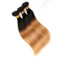 Wholesale Malaysain Hair - Virgin Brazilian Hair Weaves Human Hair Bundles Ombre 2 Tone Wefts Peruvian Malaysain Mongolian Indian Mink Human Hair Extensions