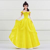 Wholesale Piggy Bank Dolls - Pricess Coin Box Cute Piggy Bank Snow White Belle PVC Action Figure Colletible Model Doll For Children