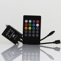 Wholesale Infrared Key - DC12V RGB LED Music IR Controller 20 key infrared music LED ir controller the advanced control unit for RGB 3528 5050 led strip