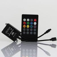 Wholesale Infrared Strip - DC12V RGB LED Music IR Controller 20 key infrared music LED ir controller the advanced control unit for RGB 3528 5050 led strip