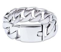 Wholesale Thick Bangle Bracelets - Fashion domineering titanium steel bracelet men's super thick cuban chain 316L stainless steel casting bangle jewelry for boy best friends
