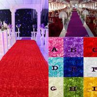 ingrosso corridore del tappeto in corridoio-Decorazioni per la tavola di nozze Sfondo Bomboniere 3D Rose Petal Carpet Aisle Runner per la decorazione della festa nuziale Forniture Spedizione gratuita