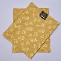 Wholesale Designed Gele - Wholesale-SL-1505,Latest design,African headtie UNIC Sego,headtie gear Gele & Wrapper,2pcs set,High Quality,Many Colors Available,GOLD