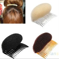 Wholesale Wholesale Foam Roller - 1pc Hair Styler Volume Bouffant Beehive Shaper Roller Bumpits Bump Foam On Clear Comb Xmas Accessories 1NN7