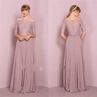 Два Pieces Purple Half Long Sleeve Bridesmaid Dresses Off The Shoulder Country Maid of Honor Dresses Cheap Evening Gown Party Wear Plus Size